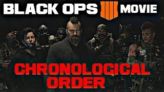 CALL Of DUTY: BLACK OPS 4 - Story Cinematics Movie (In Chronological Order)