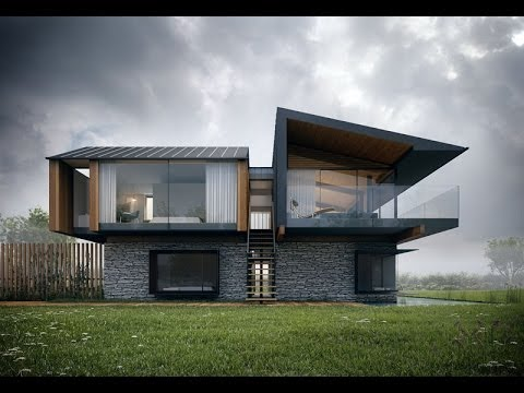Dise o de casas modernas de dos pisos youtube for Disenos de residencias modernas