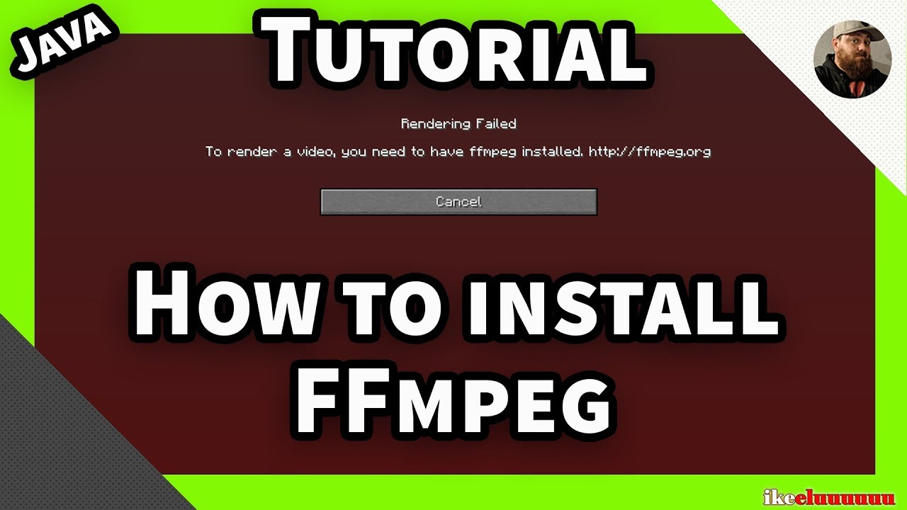 How to install ffmpeg | for use with the Minecraft replay mod | Idea's and  tutorials