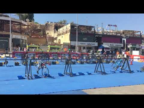 Elite Triathlon Race in Sharm El Sheikh transition 2 ATU