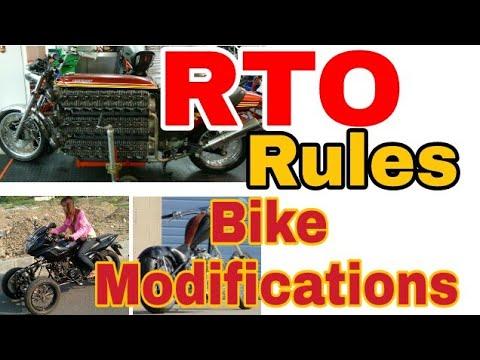 RTO Rules for bike modifications | Custom bike / custom car rules | Legal & illegal
