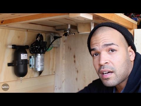 Coffee Cart Pitcher Rinser & Shurflo Water Pump Installation