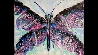 (74) Acrylic Pour Swipe into Butterfly request using Owatrol with Sandra Lett 032718