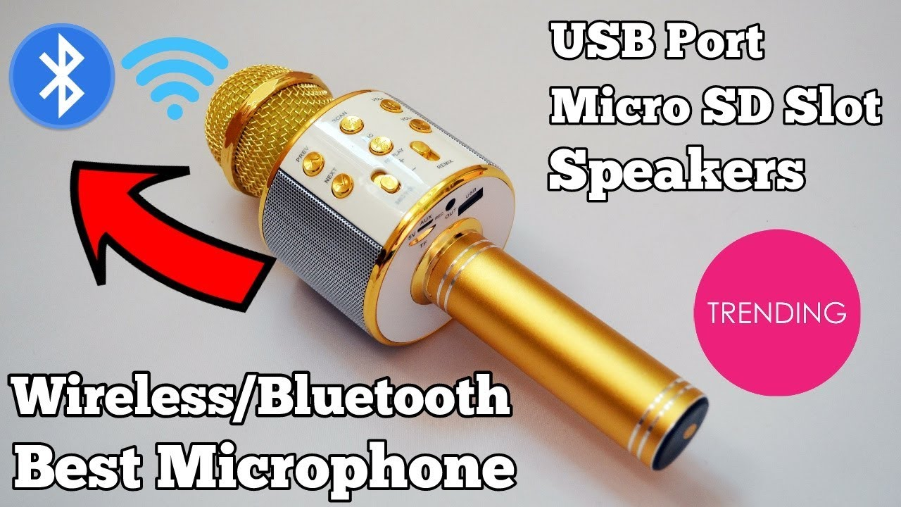 ws 858 best protable bluetooth wireless microphone hifi speaker unboxing and reviews youtube. Black Bedroom Furniture Sets. Home Design Ideas