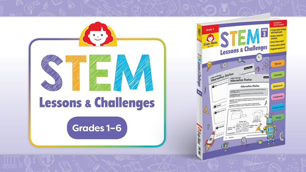 Evan-Moor's STEM Lessons and Challenges Grade 3