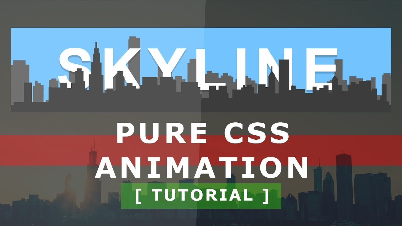 Skyline - Pure CSS Animation on Hover - CSS Text Hover