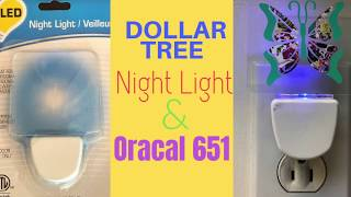 How to Easily Decorate a Dollar Tree Light with Oracal 651 Pattern