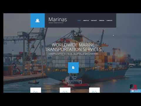 Maritime Responsive Website Template TMT | Free Template  Lyle Dylan