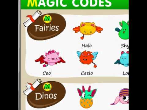 what are the magic codes for fantage