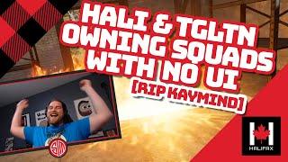 Halifax, TGLTN \u0026 Kaymind Play Hardcore Mode - No UI PUBG Squads Gameplay