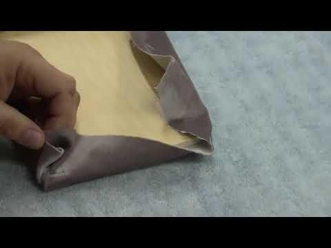 Как обтянуть УГОЛ ДЕТАЛИ тканью для мягкой мебели без морщин.