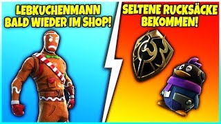 🎄 LEBKUCHEN SKIN BALD AGAIN IN THE SHOP 😱 RARE RUCKSÄCKE! - Fortnite Battle Royale