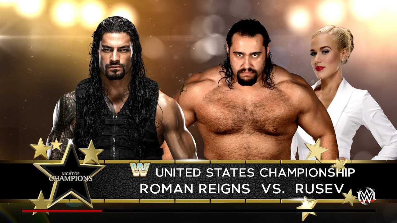 Download Clash Of Champions 2016 - Roman Reigns Vs Rusev For The US Title - WWE 2K16