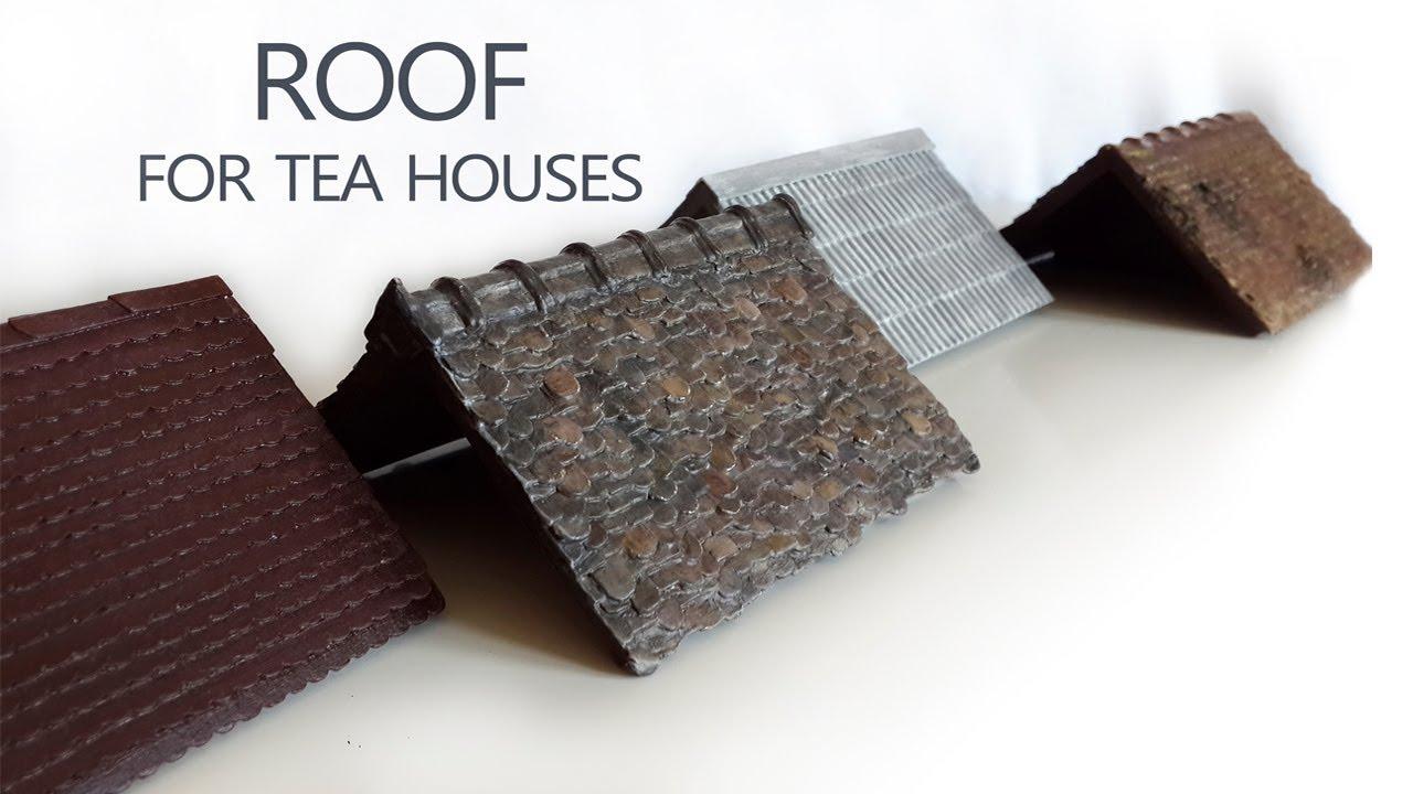 4 Варианта кровли для чайных домиков из пробочного картона