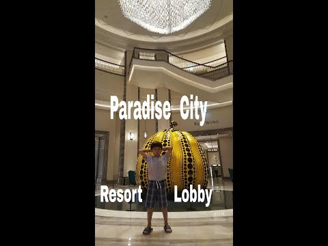 Paradise City Hotel & Resort cozy lobby~ Incheon South Korea