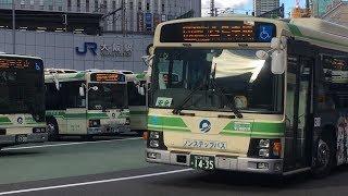シティバスがいっぱい! 大阪駅前バスのりば