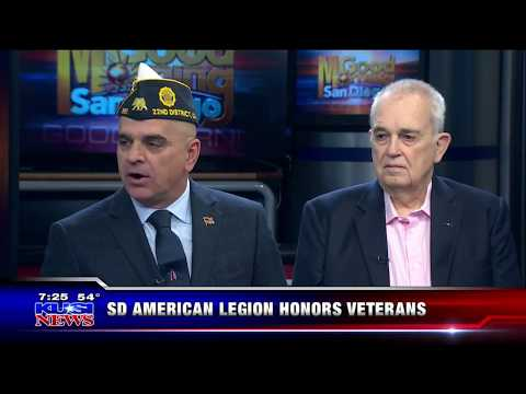 American Legion - Chris Yates & Vice Admiral Koening KUSI 12-10-17