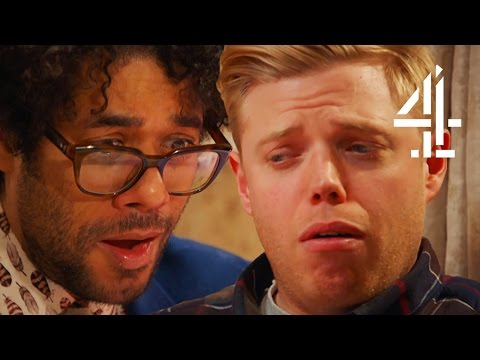 Richard Ayoade & Rob Beckett Seriously Struggle To Eat Lard And Caviar | Travel Man: 48 Hours In...