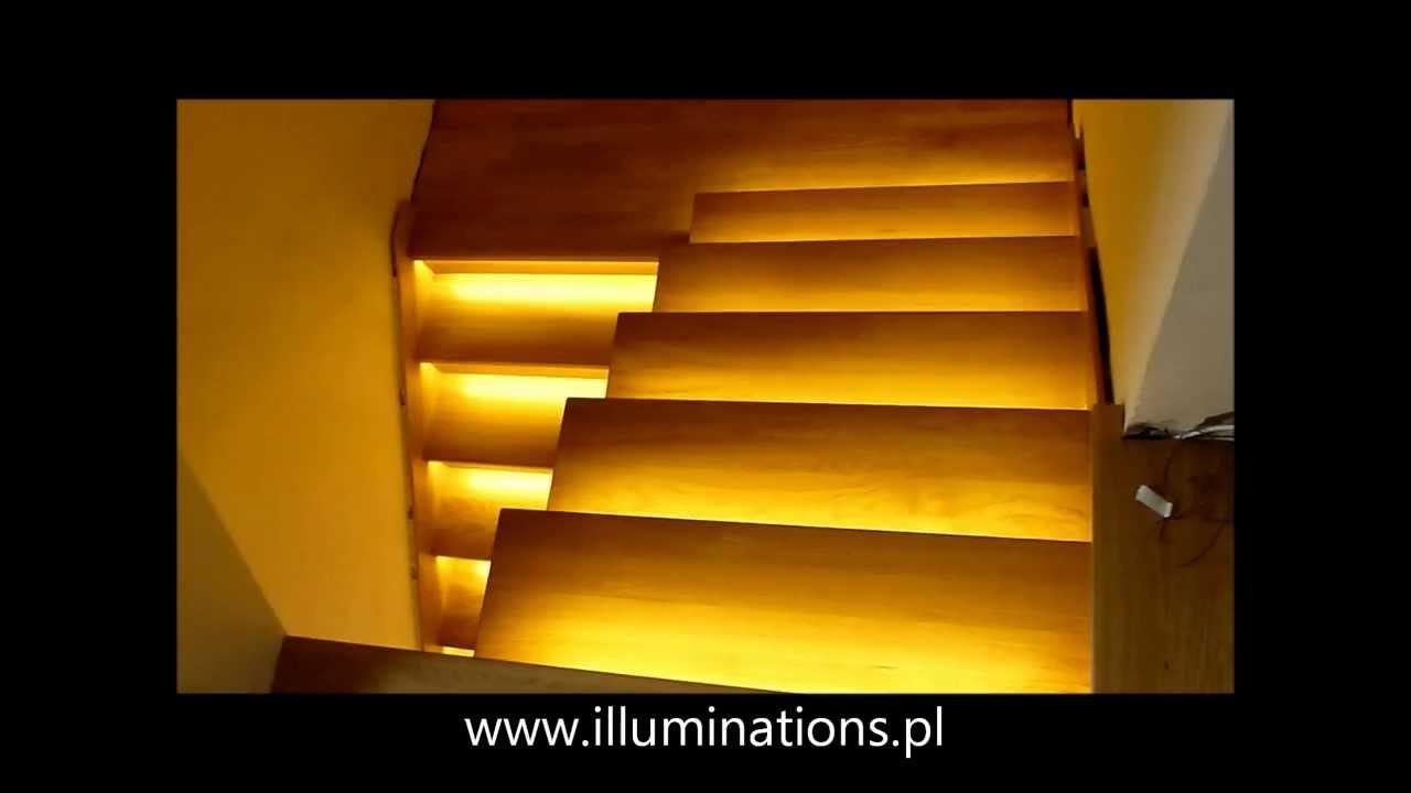 16 Schodów Zestaw Do Oświetlenia Schodów Szerokość Oświetlenia 60 Cm