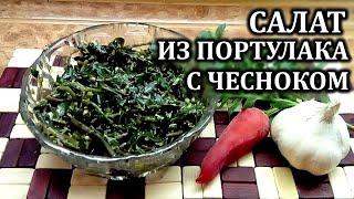 Салат из портулака с чесноком  Простые рецепты закусок