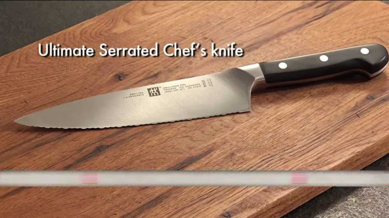 New ZWILLING Pro 8 Ultimate Serrated Chefs Knife