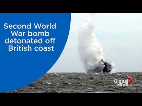 WWII bomb found near London airport detonated off British coast