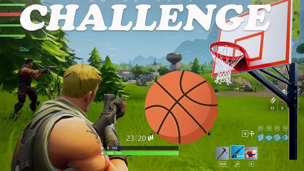 mini basketball challenge in fortnite hard - basketball challenge fortnite