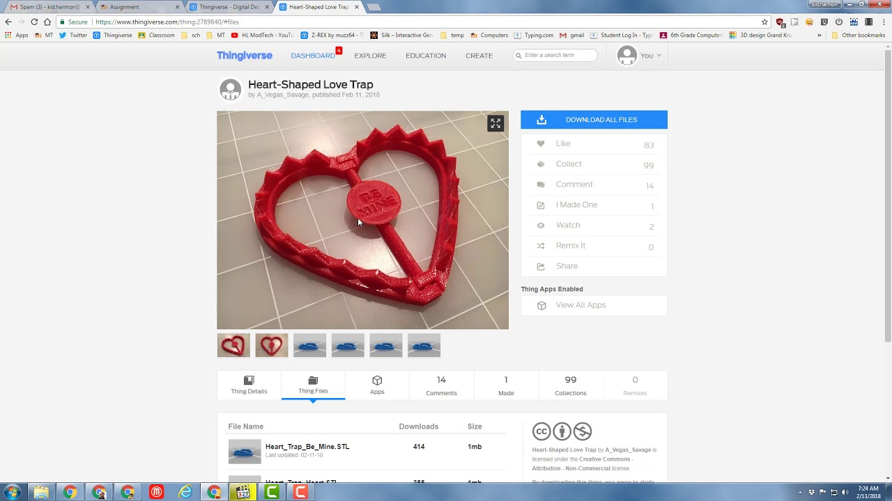 Thingiverse and Valentines are a match made in heaven!