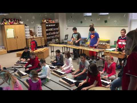 5th Graders Rocking Orff Instruments in Music Class