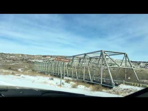 Beautiful Winter Badlands Drive to Long X Bridge, Little Missouri River, North Dakota.  Feb. 10, 20