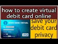 Debit card online ! Create virtual debit card!  Virtual card!  Shopping with virtual card