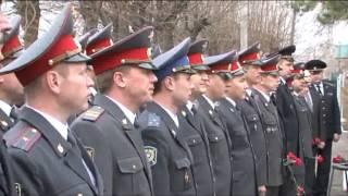 Церемония открытия мемориальной доски в память о майоре полиции Лихачеве АЮ.