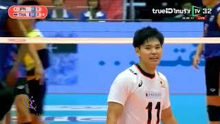 Thailand - Japan ญี่ปุ่น - ไทย : วอลเล่ย์บอลชาย ชิงแชมป์เอเชีย 2019 Asian Men's Championship
