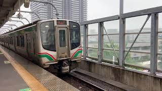 E721系 常磐線普通山下行き 長町駅 発車