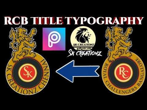 rcb typography royal challengers