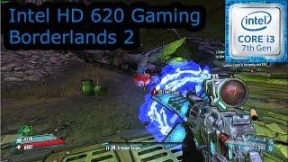 intel hd 620 gaming borderlands 2 i3 7100u i5 7200u i7 7500u kaby lake