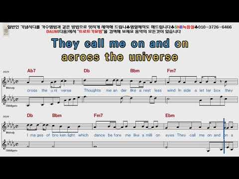 Beatles - Across The Universe [POP Song Score Karaoke]
