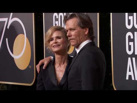 Kevin Bacon & Kyra Sedgwick Golden Globe Awards Fashion Arrivals (2018)