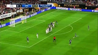 Messi Free Kick vs USA  ► in 1080p & with English Commentary ||HD||