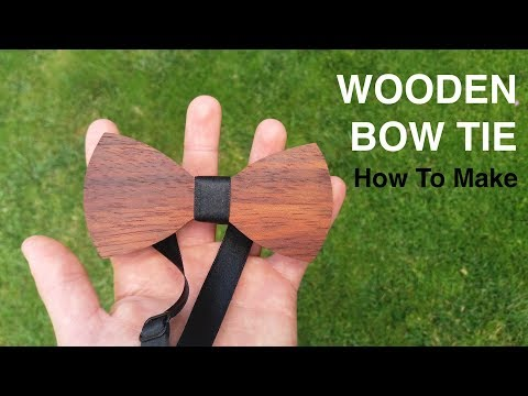 Making A Wooden Bow Tie // Woodworking // My Cellar Workshop