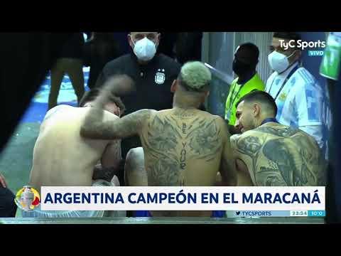 Messi, Neymar y Paredes y una charla post final