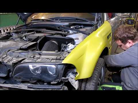 BMW M3   The side body repair of the car  Fails Germany  / Russia / USA