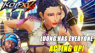 LUONG Has Everyone ACTING UP!   King of Fighters XV   LUONG Reveal Trailer   REACTION