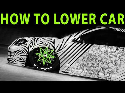 Midnight Club LA - How To Lower Your Car To Ground ( Stanced / Slammed / Dropped )