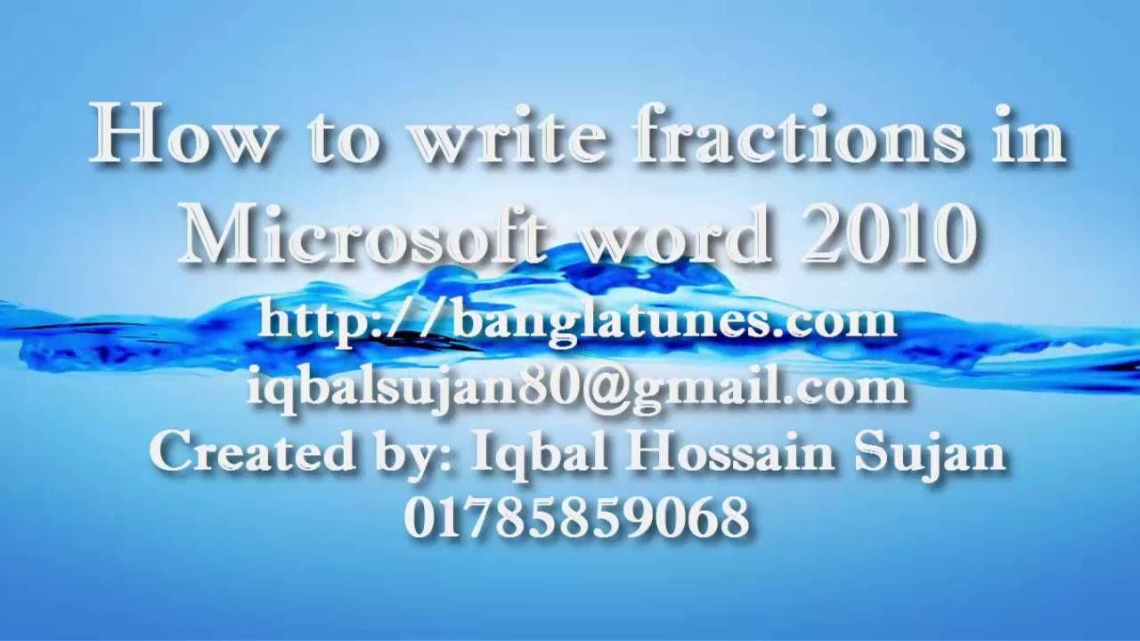 How to write mathematics in Microsoft word