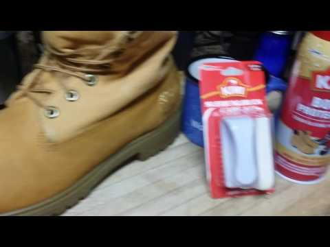 Timberland  boot waterproofing and cleaning