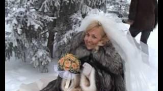 Свадьба зимой - прогулка