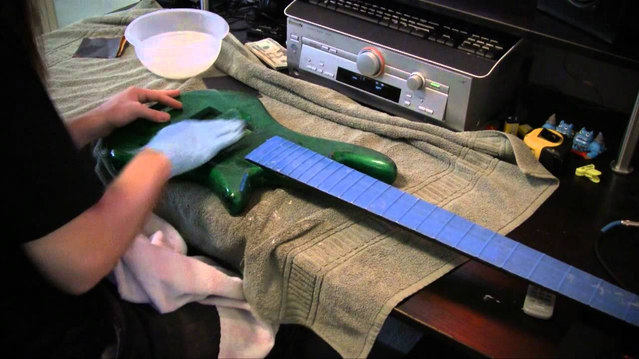 custom painting an electric bass guitar youtube. Black Bedroom Furniture Sets. Home Design Ideas