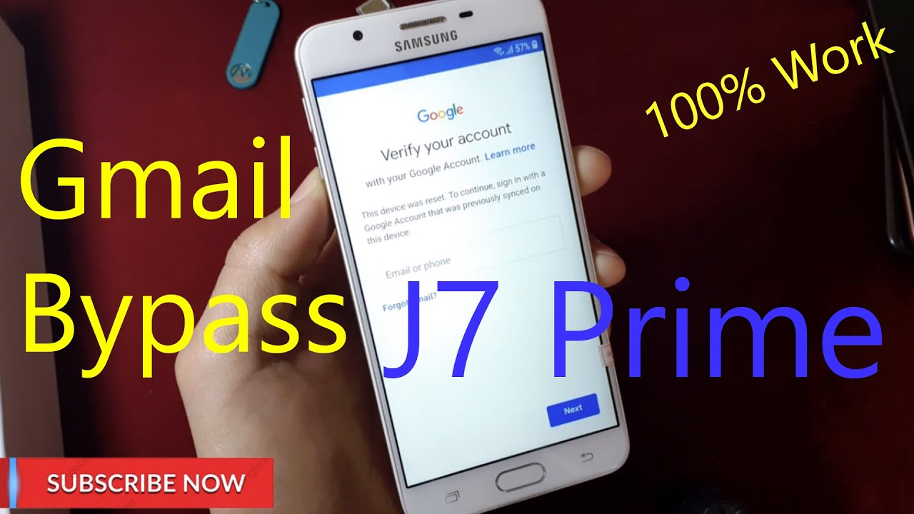 Samsung Galaxy J7 Prime Frp Bypass Google Account اسهل طريقة تخطي
