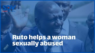 DP Ruto helps Caroline Wambui a lady raped at the age of 16 years, gifts her a sewing machine